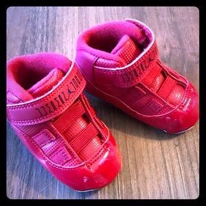 Air Jordan Retro 11 ALL RED/BABY JORDANS